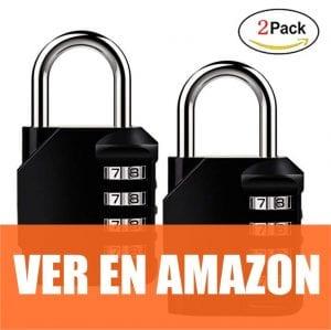 Isyiner - Candado de seguridad 2 Pack