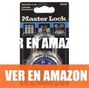 Master Lock - Candado de combinación de acero inoxidable